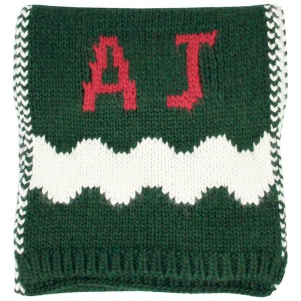 Armani Jeans W8 Green Wool Blend Scarf U6470
