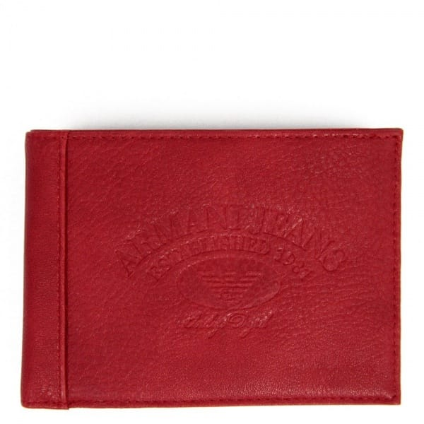Armani Jeans Accessories Red Wallet V6V17