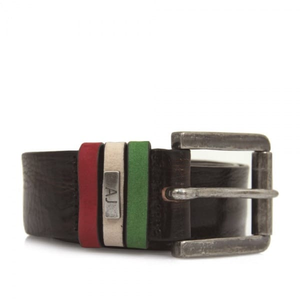 Armani Jeans Liquorice Leather Belt U6168T7