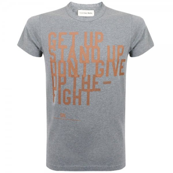 Image of Universal Works Get Up Print Tee Grey Jersey T-Shirt