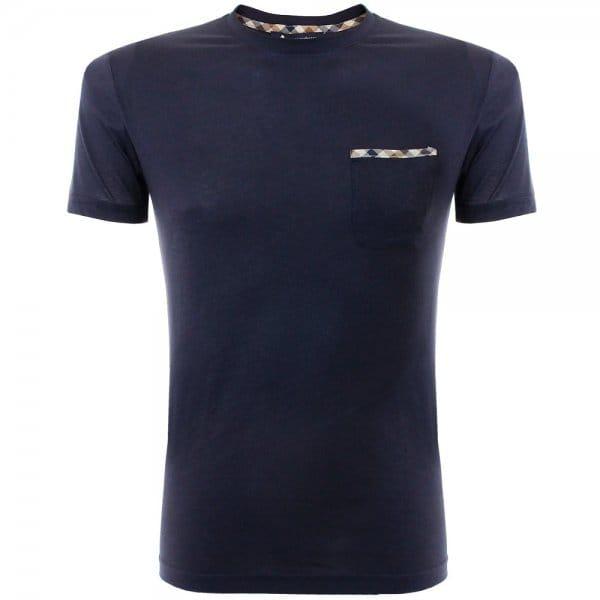 Image of Aquascutum Brady Navy Pocket T-Shirt 011559006