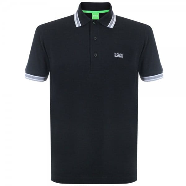 Image of Boss Green Paddy Black Polo Top 50198254