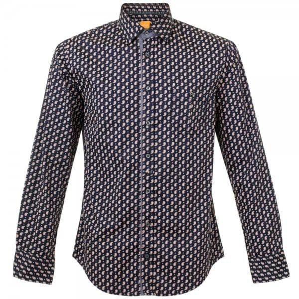 Hugo Boss Eslime Dark Blue Paisley Shirt 50295699