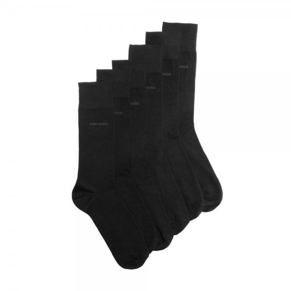 Hugo Boss 3 Pack Black Socks 50275639