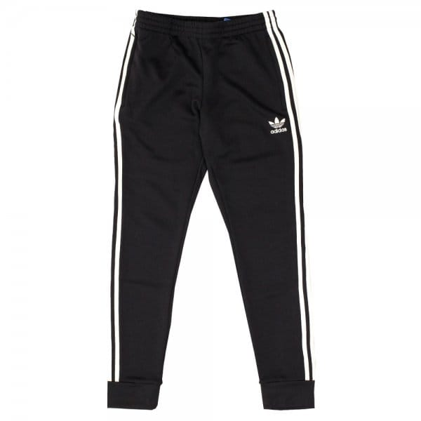 Image of Adidas Originals Superstar Cuffed Black Track Pants AJ6960