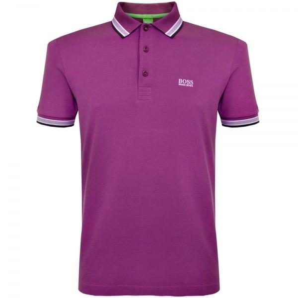 Image of Hugo Boss Green Paddy Purple Polo Shirt 50302557