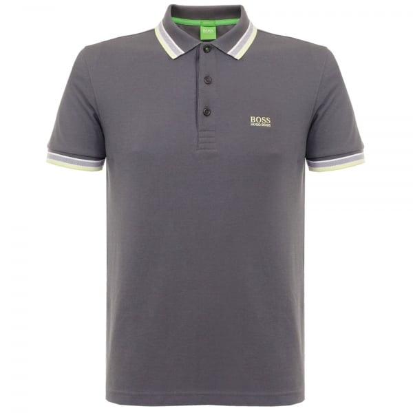 Image of Hugo Boss Green Paddy Grey Polo Shirt 501982