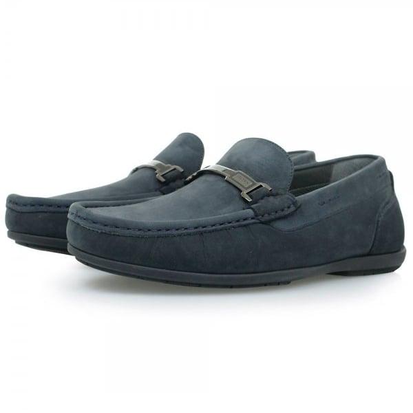 Hugo Boss Flanac Dark Blue Moccasins Shoes 50298114