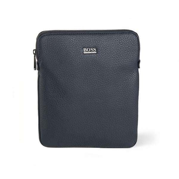 Hugo Boss Black Gotio Leather Shoulder Bag Navy 50297609 401