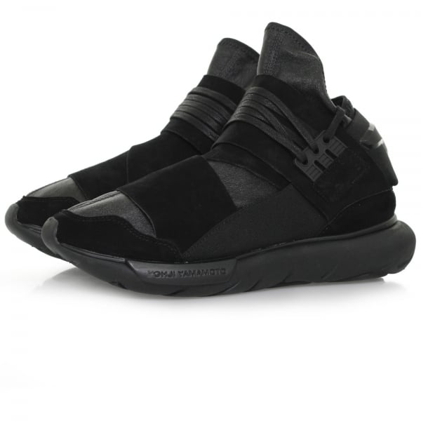 Adidas Y3 Qasa High Black Leather Shoe BB4733