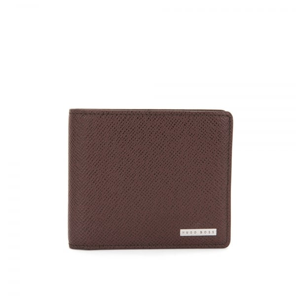 Hugo Boss Signature_8 CC Dark Red Leather Wallet 50811737
