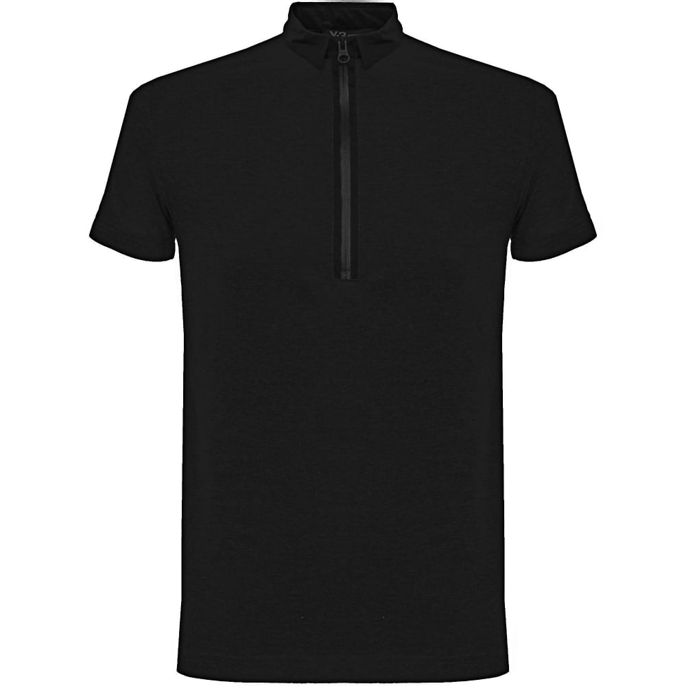Adidas Y3 Zip Black Polo Shirt B47574