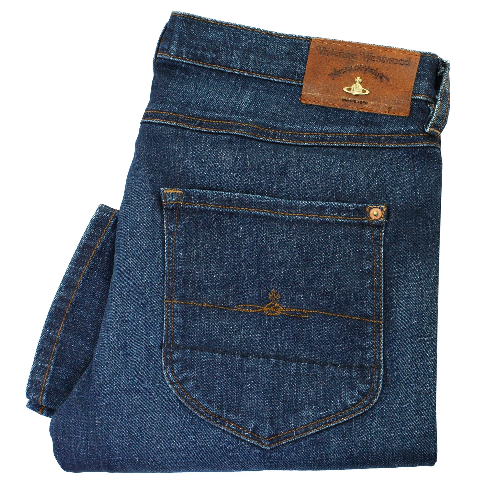Vivienne Westwood New Classic Tapered Blue Denim Jeans DS0IK5