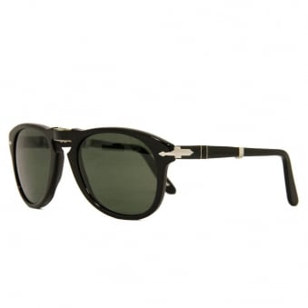 714 Foldable Sunglasses- Black & Bottle Green