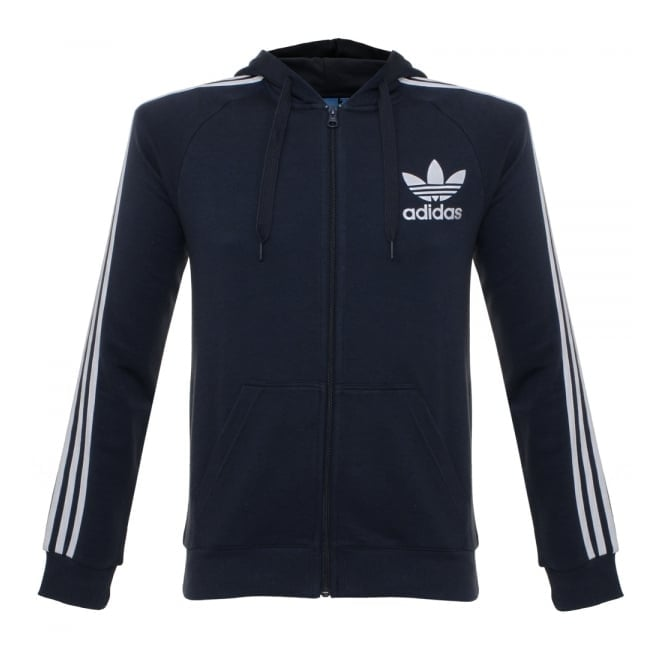 Adidas Originals Adidas CLFN Legend Ink Hoodie Zip Sweatshirt