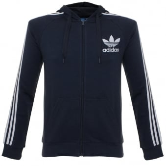 Adidas CLFN Legend Ink Hoodie Zip Sweatshirt