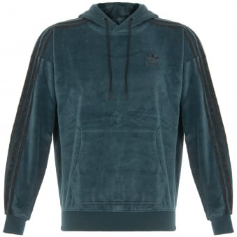 Adidas OB Hoody Velour Green Track Top CF5319