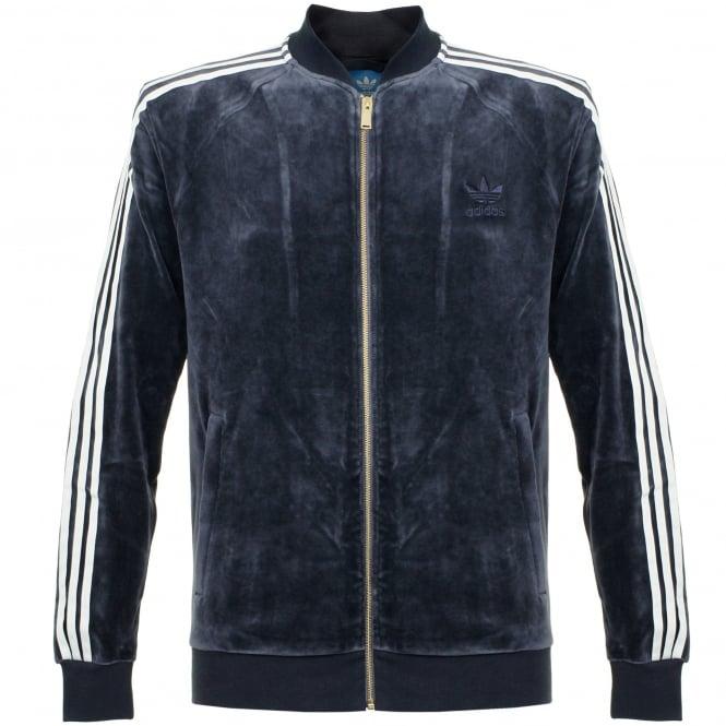Adidas Originals Adidas Originals Beckenbauer Velour Legend Ink Track Jacket AY9222