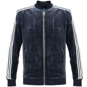 Adidas Originals Beckenbauer Velour Legend Ink Track Jacket AY9222
