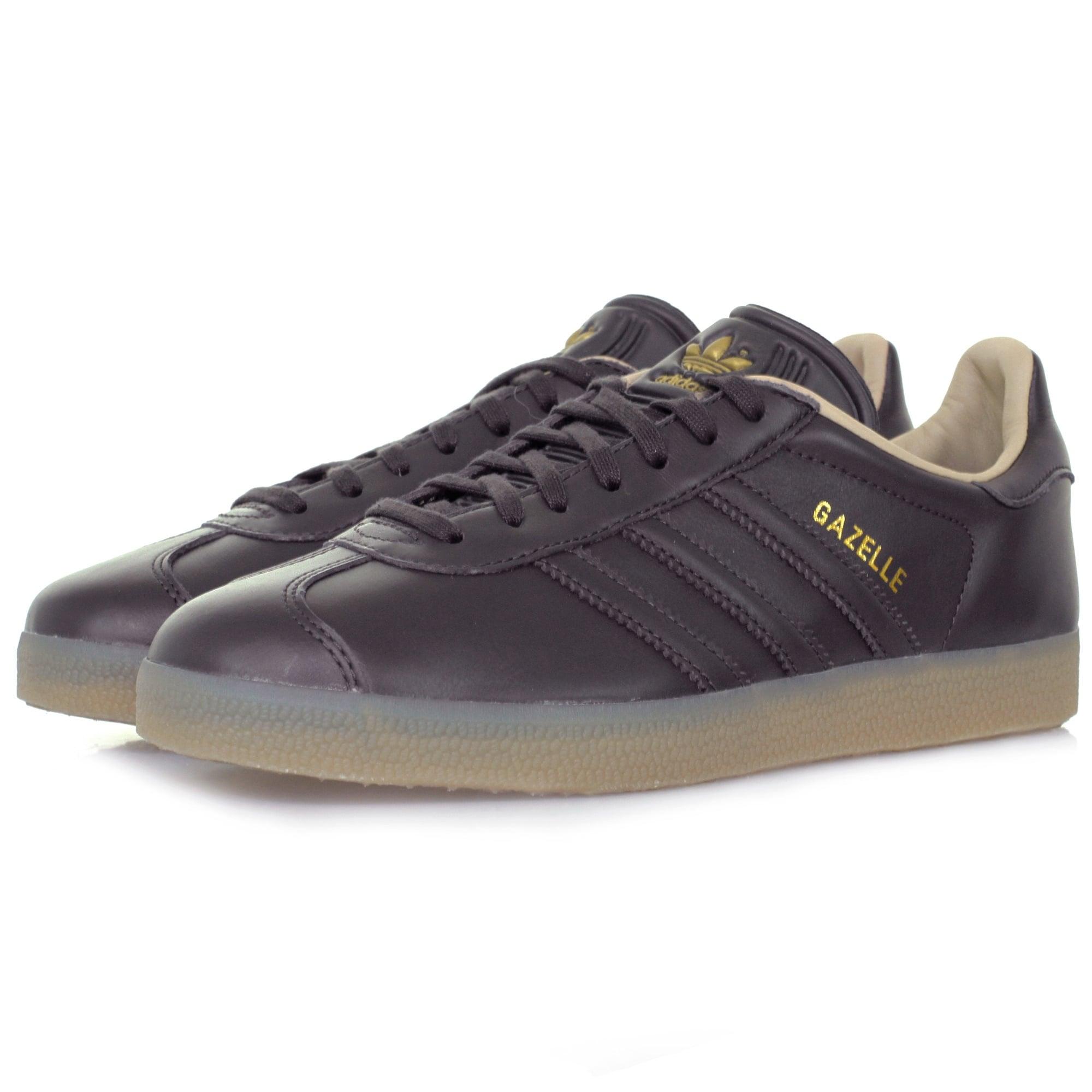 Adidas Originals Gazelle Dark Grey Leather Shoe
