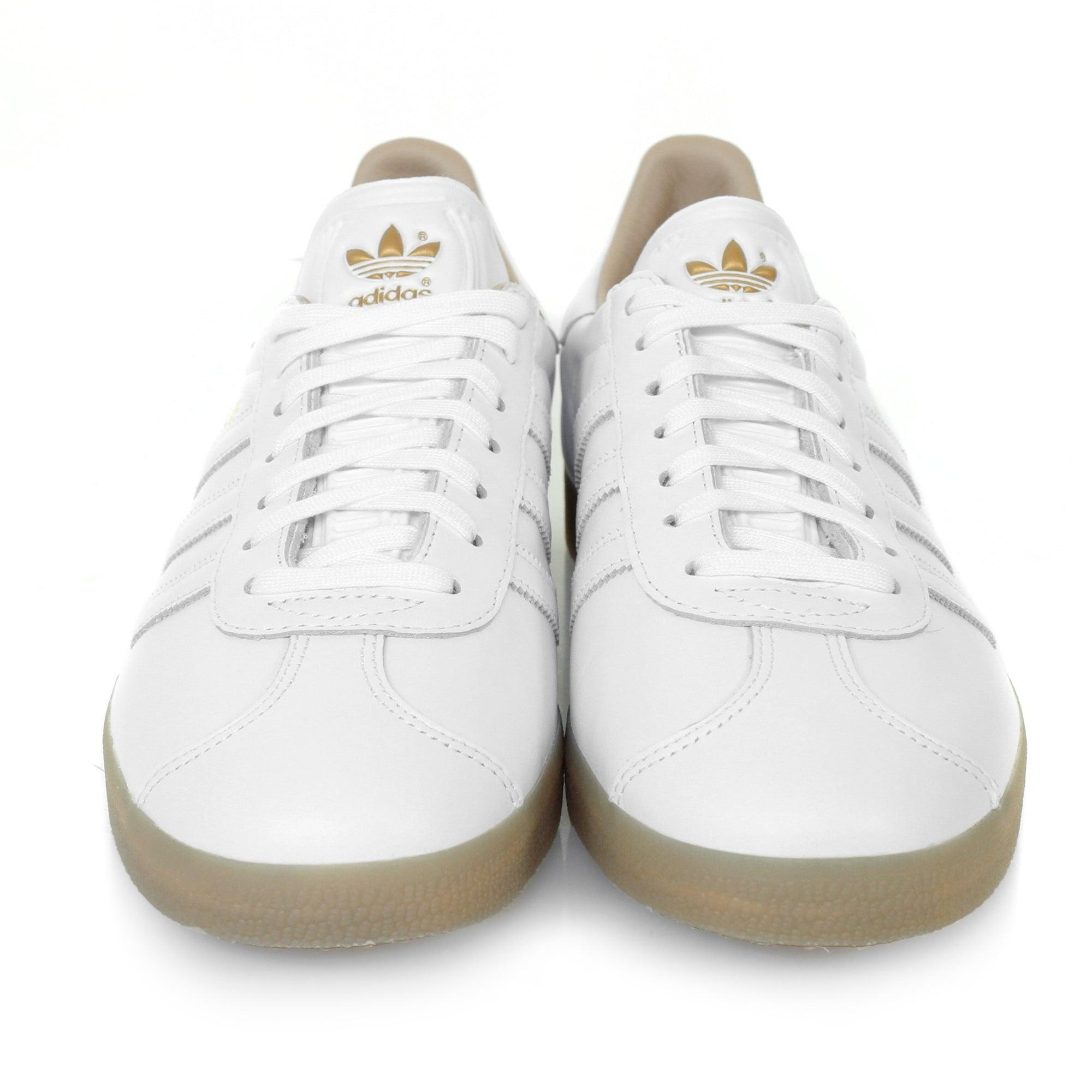 adidas gazelle white leather