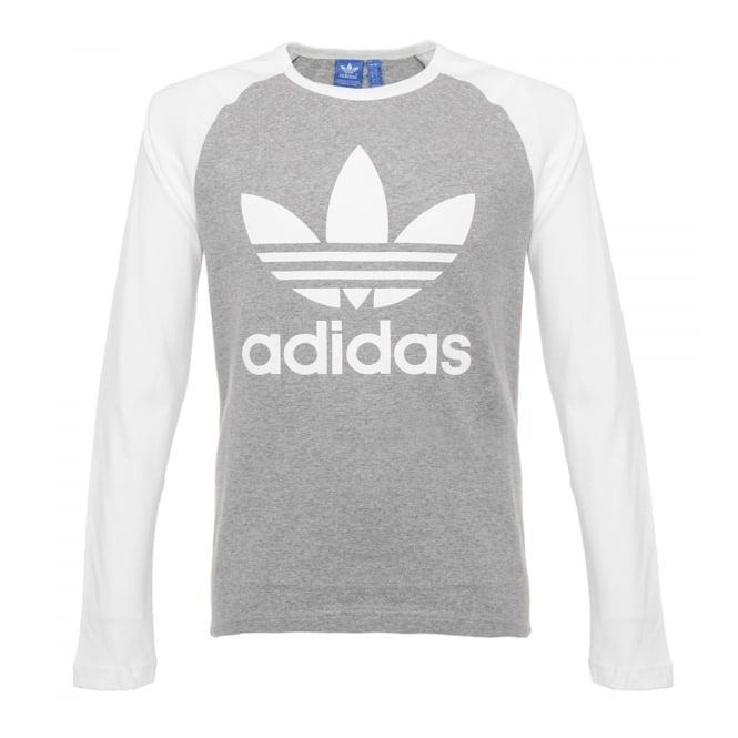 Adidas Originals Adidas Originals Trefoil LS Grey T-Shirt AY7803