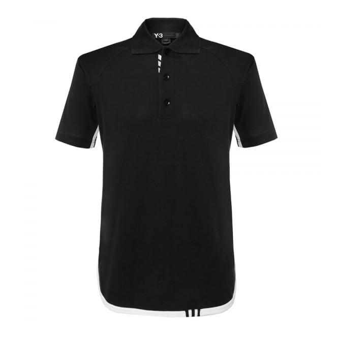 Adidas Y-3 Adidas Y-3 M Lux Black Polo Shirt AP2479