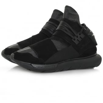 Adidas Y-3 Qasa High Black Leather Shoe BB4733