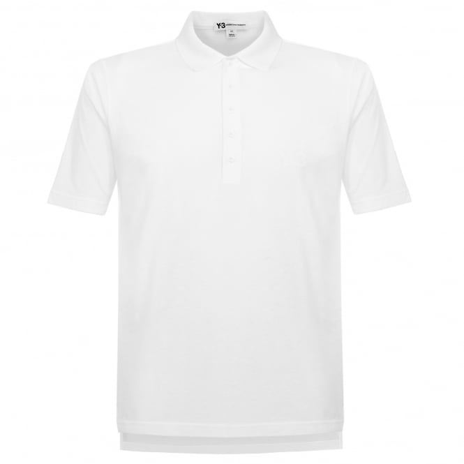 Adidas Y-3 Seasonal White Polo Shirt BS3387