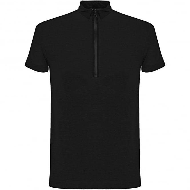 Adidas Y-3 Adidas Y-3 Zip Black Polo Shirt B47574