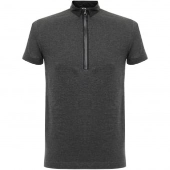 Adidas Y-3 Zip Charcoal Melange Polo Shirt B47575