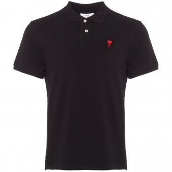 AMI de Couer Polo Shirt - Black