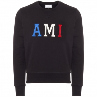 AMI Logo Sweatshirt - Black