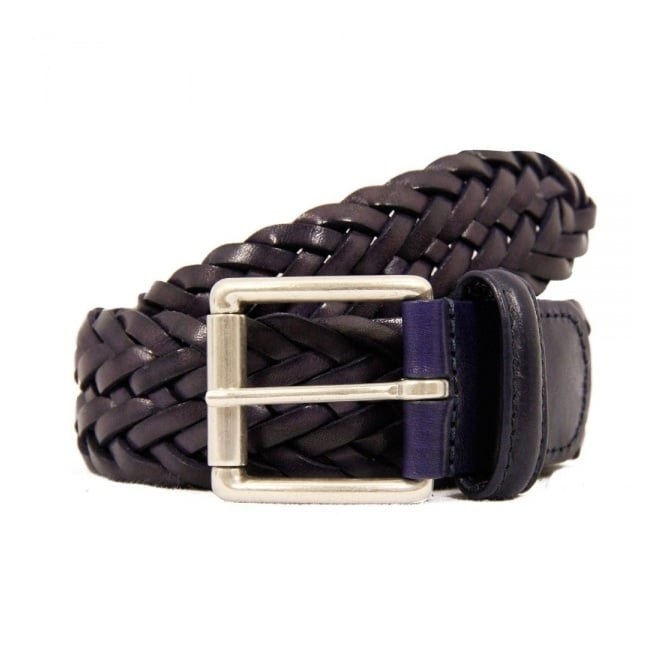 Anderson's Belts Anderson Belts Purple Woven Leather Belt AF2984