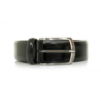 Anderson Black Shine Leather Belt A/1981 PL262 N1