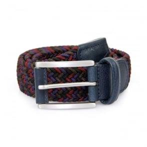Anderson Woven Multi Purple Burgundy Braided Belt  AF2949