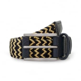 Anderson Woven Navy Champagne Belt B0667 AF2949 NE41 BL