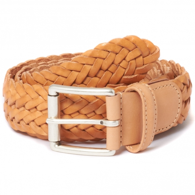 Anderson's Belts Anderson's Braided Natural Sand Leather Belt