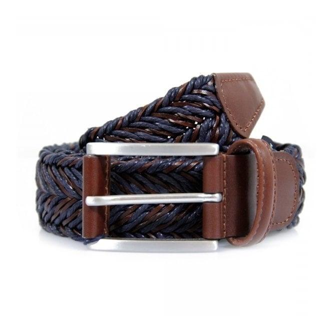 Anderson's Belts Anderson's Braided Twine Deep Navy Brown Belt AF2949002