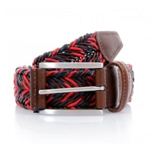 Anderson's Braided Twine Deep Navy Red Belt AF2949002