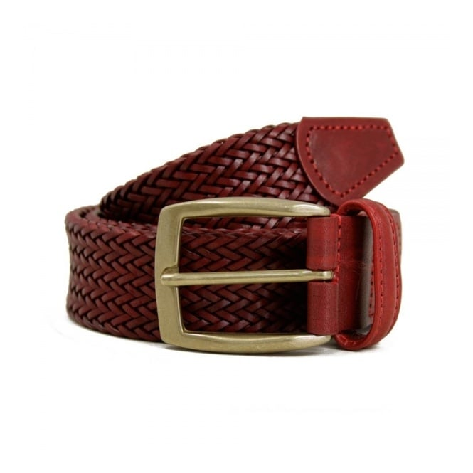 Anderson's Belts Anderson's Thin Dark Red Leather Belt A1716