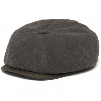Anthracite Canvas Hatteras Flat Cap