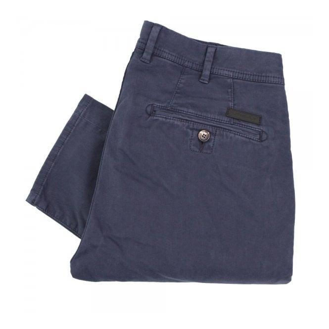 Aquascutum Parret Stretch Navy Chino Trousers 021556001