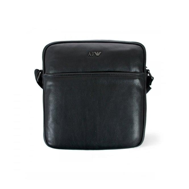 Armani Accessories Armani Jeans Black Leather Bag 06228-12