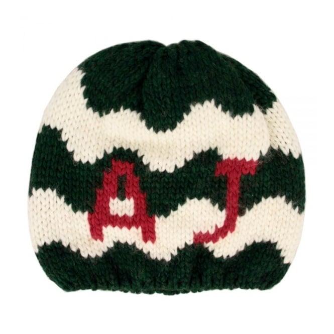 Armani Accessories Armani Jeans Knit Gree White Beanie U6469