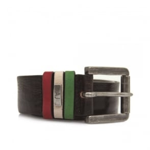 Armani Jeans Liquorice Leather Belt U6168-T7