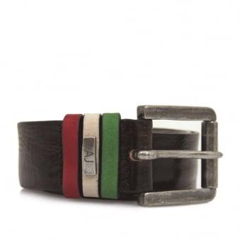Armani Jeans Liquorice Leather Belt U6168-T7