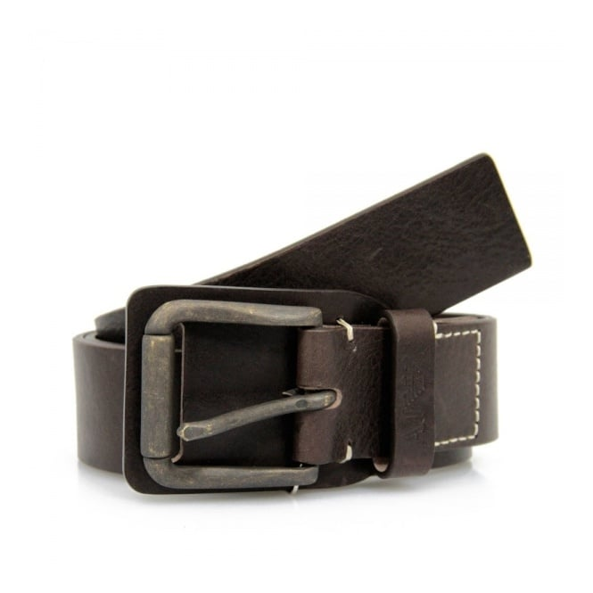 Armani Accessories Armani Jeans Maroon Brown Belt V6162