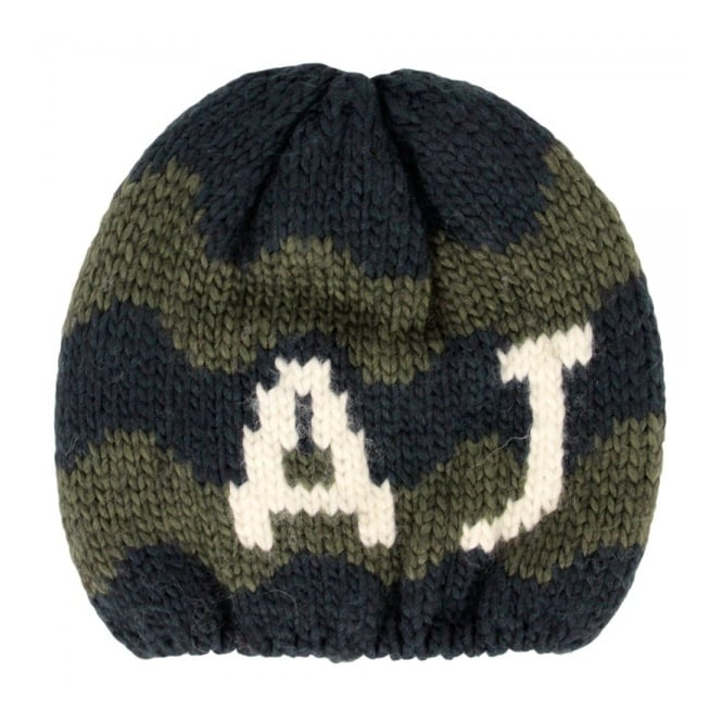 Armani Accessories Armani Jeans Navy Green Knit Beanie U6469