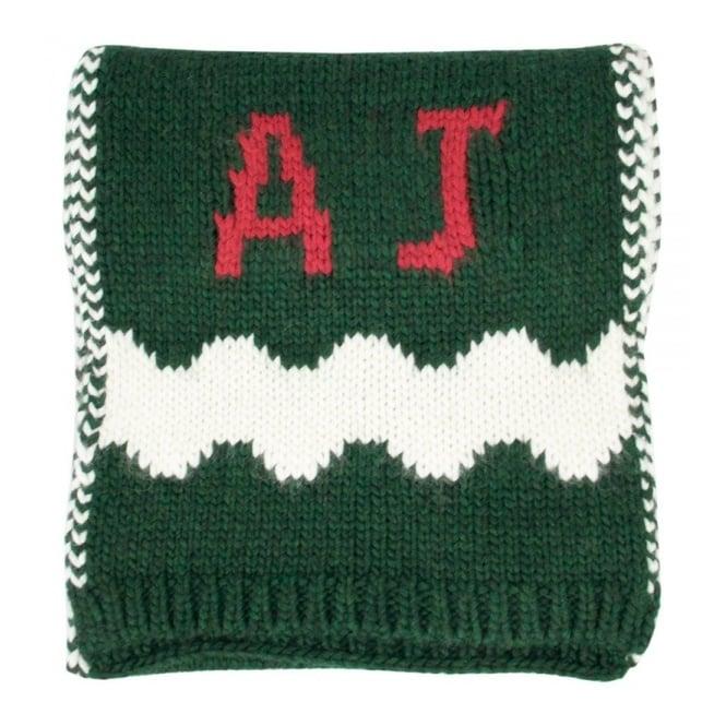 Armani Accessories Armani Jeans W8 Green Wool Blend Scarf U6470